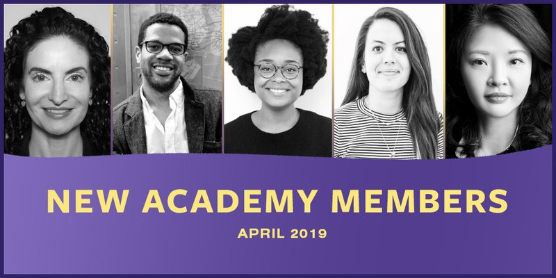 New Real Time Academy Members - April 2019