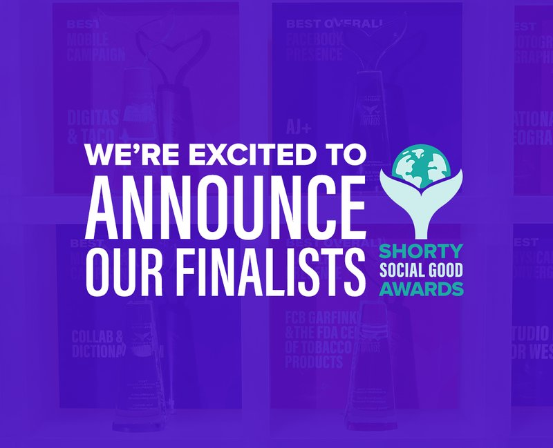 Announcing the Shorty Social Good Awards finalists!
